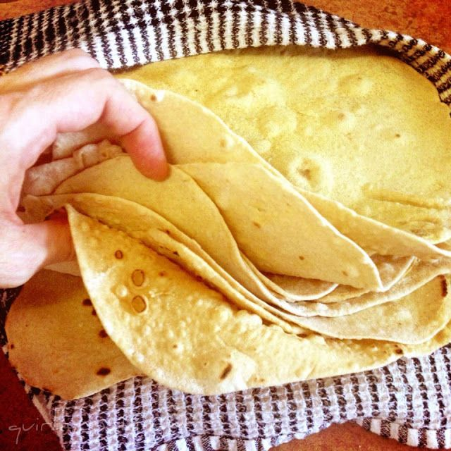Quirky Cooking: Spelt Tortillas - halved the recipe, and only made 3 large tortillas. Tasted great though, need lots of flour to assist with the rolling out process.