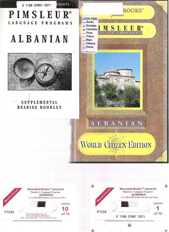 Pimsleur ALBANIAN LANGUAGE COURSE World Edition Tapes +