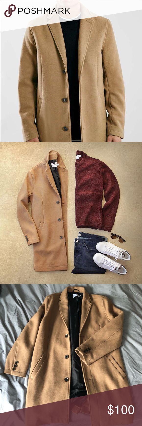 Topman Camel Overcoat Never worn Topman camel topcoat.  Size M. Topman Jackets & Coats Pea Coats