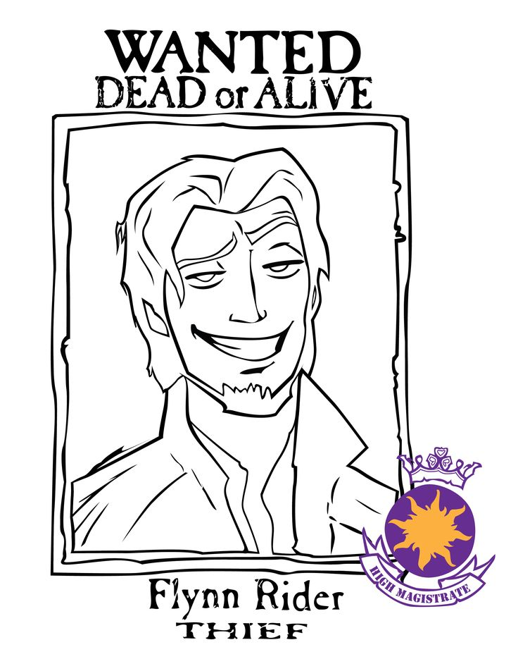flynn rider wanted poster