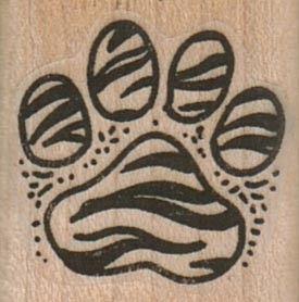 Tiger striped paw print