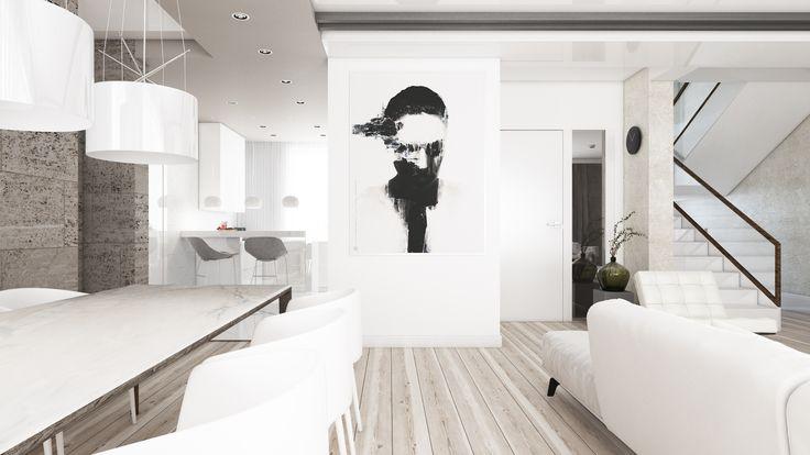Dom w stylu modern   Opole   projektowanie wnętrz   troomono