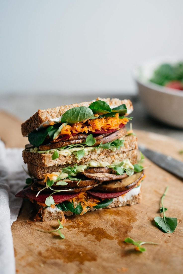 Avocado Club Sandwich w/ Marinated Portobello Mushrooms — dolly and oatmeal
