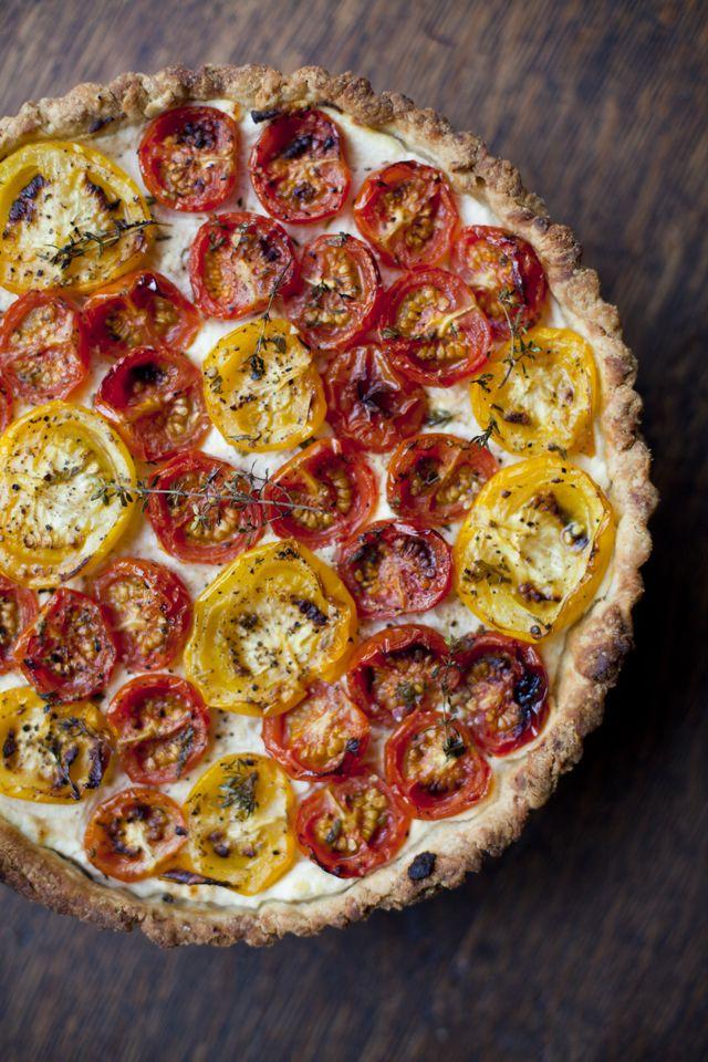 Tomato, ricotta and thyme tart | ️eat ️ | Pinterest