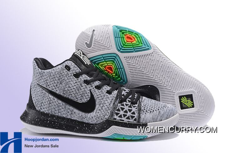 """https://www.womencurry.com/oreo-nike-kyrie-3-wolf-grey-black-mens-basketball-shoe-new-style.html """"OREO"""" NIKE KYRIE 3 WOLF GREY/BLACK MEN'S BASKETBALL SHOE NEW STYLE Only $95.82 , Free Shipping!"""