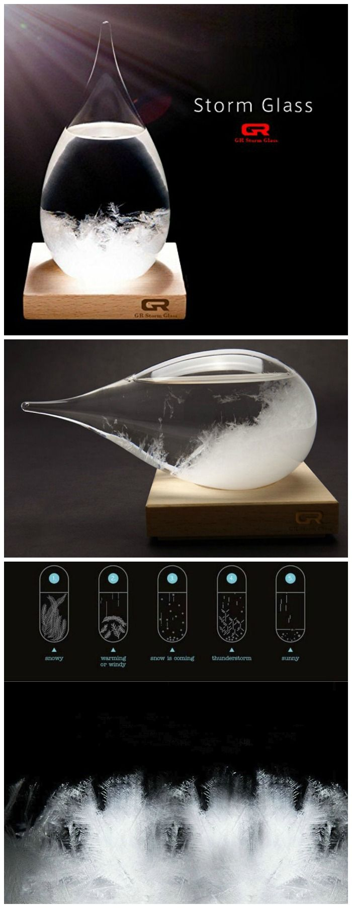 The cool new and modern Storm Glass is the natural way to forecast the weather. #affiliate