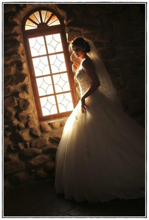 Bride in sunlight...