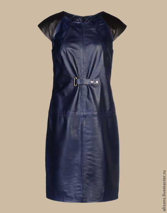 Купить Платье Даллас из кожи натуральной - однотонный, кожаное платье, кожаная юбка, натуральная кожа