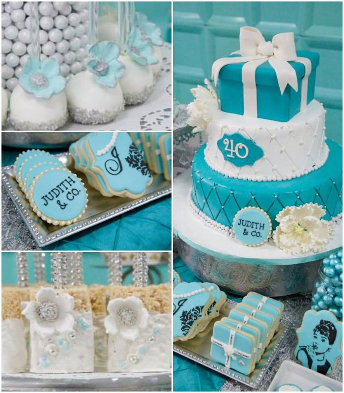 Tiffany Themed Party For Keira S 18th Birthday: 17 Best Ideas About 40th Birthday Cakes On Pinterest