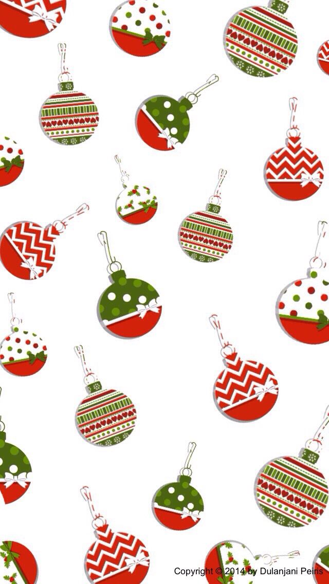 CHRISTMAS ORNAMENTS IPHONE WALLPAPER BACKGROUND