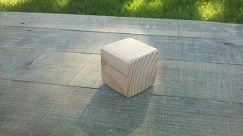 20 wood blocks measuring 2 x 2 inches. Unfinished or finished with natural child safe bees wax or coconut oil. Edges are either not sanded or sanded to round shape, whatever your preference might be. Wood type is high quality Douglas Fir.