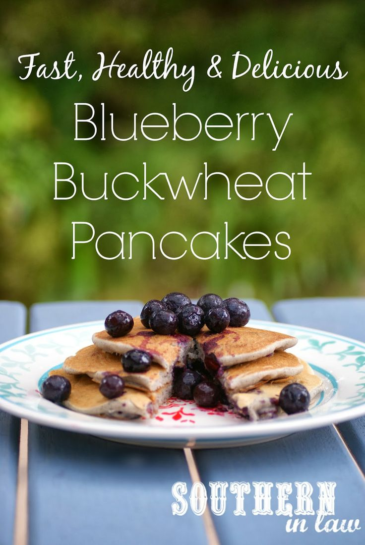 ... Easy Blueberry Buckwheat Pancake Recipe - Gluten Free, Low Fat, Vegan