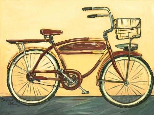 Suzanne Etienne - Bicycle with Basket - art prints and posters
