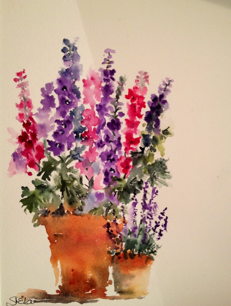 Larkspur and Lavender....by Sheila Horrocks