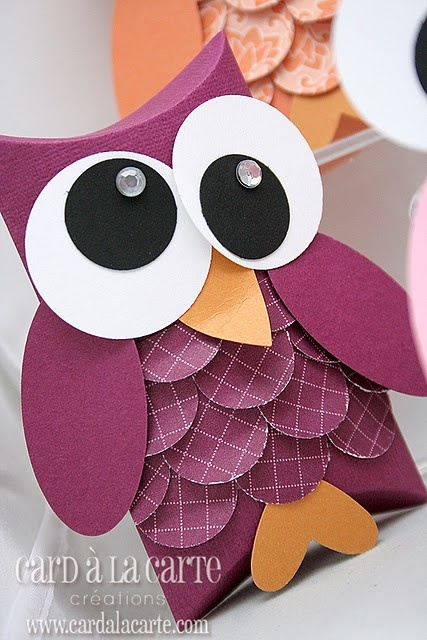 Owl pillow box craft #1 @Ashley Walters Walters Walters Tolbert, this makes me think of you...isn't this precious - maybe make them during our Nocturnal Animals Unit???