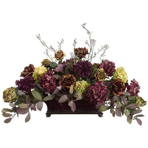 Rose Hydrangea Dahlia And Peony Silk Flower Design Floral Home Decor Florals: Arrangements