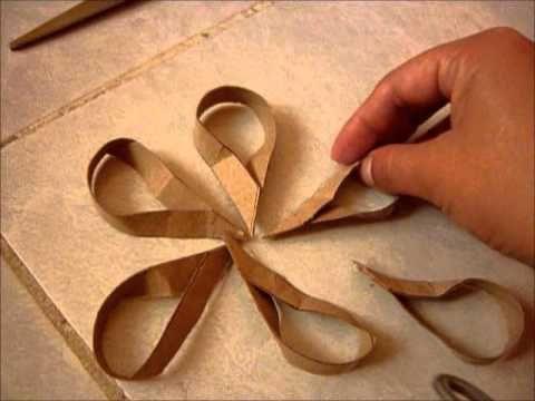 Flor con cartones de papel higiénico - YouTube