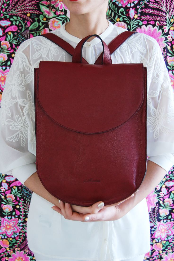 Marsela half moon leather backpack..Beautiful!!!