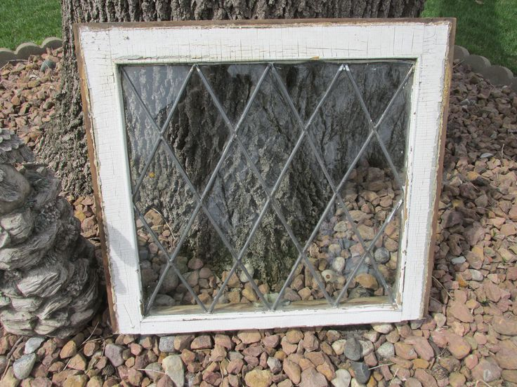 Antique Lead Glass Window 22 x 20 1/2 by LuRuUniques on Etsy