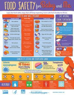 Food safety during pregnancy - foods to avoid, safe cooking temperatures, and important facts about pregnancy food safety