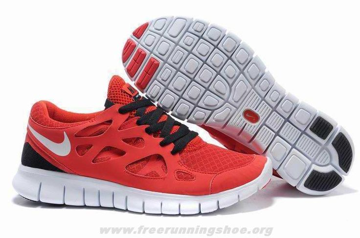 Womens Red Black White Nike Free Run 2 443815-121