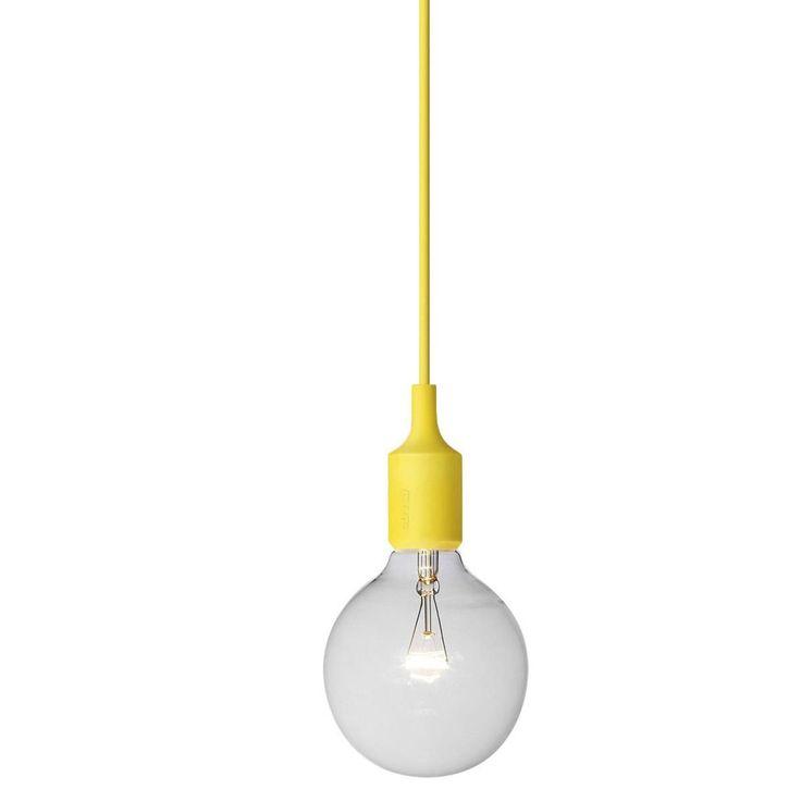 Muuto - E27 Pendant Lamp - yellow/Ø 22cm x3 above Bar / peninsula?