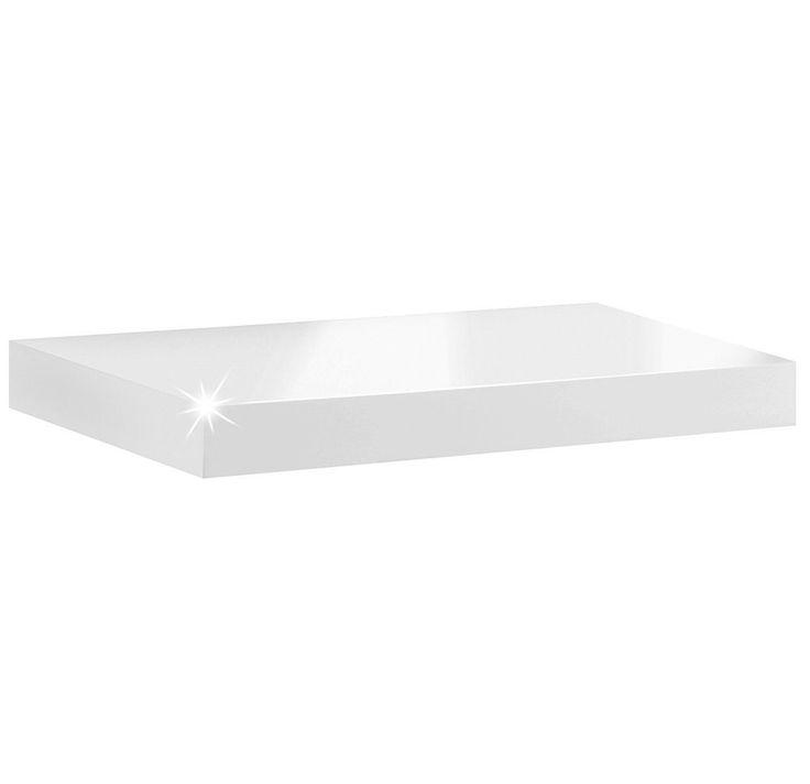 Wandboard / Wandregal Boy | 9 Größen | 6 Dekore | 570x250x50 mm - weiß hochglanz: Amazon.de: Küche & Haushalt