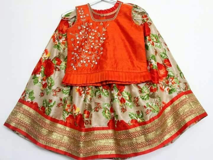 Cute floral pattu dress