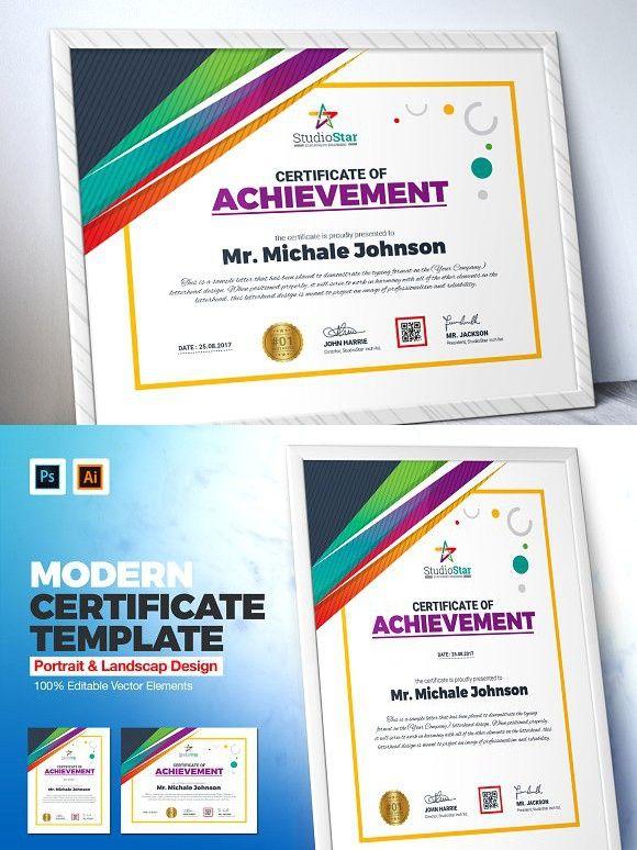 Creative Certificate Template Certificate Templates Pinterest