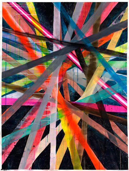 Colorful abstract art by Maya Hayuk #stripes