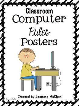 FREEBIE Classroom Computer Rules Posters