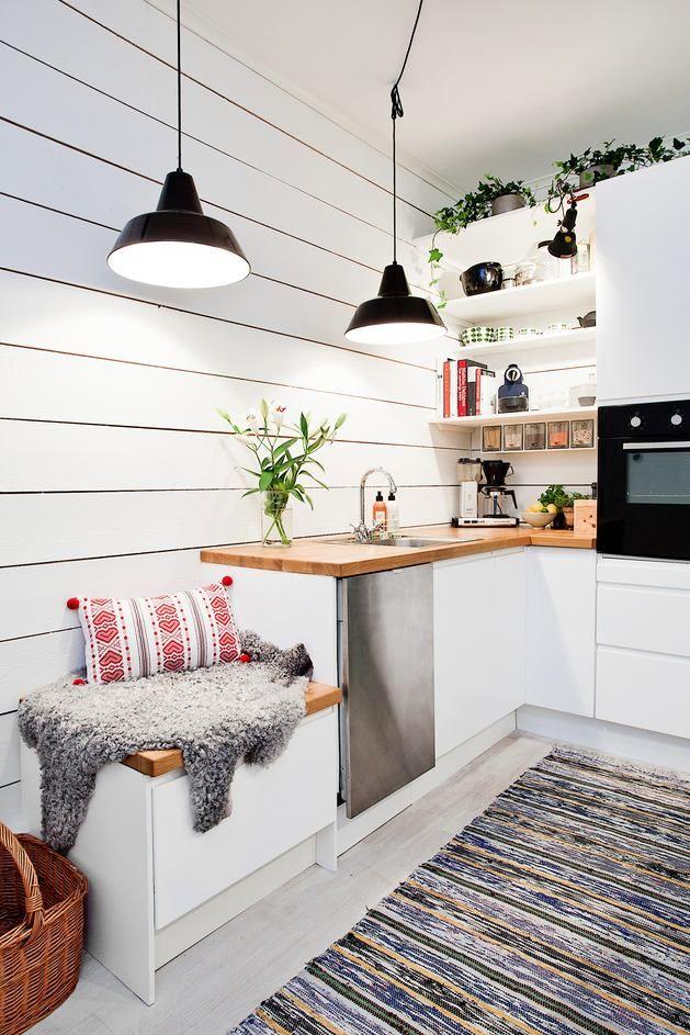 Кухня, Кухня, Мебель и предметы интерьера, Декор,  скандинавский стиль,  Черный, Серый, Светло-серый, Бежевый,