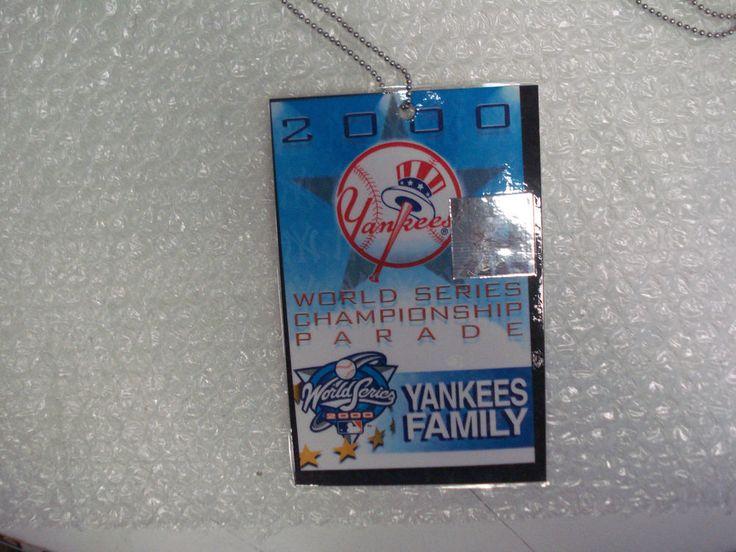 New York Yankees 2000 World Series Champ Pass Yankees Family Subway Series NYY