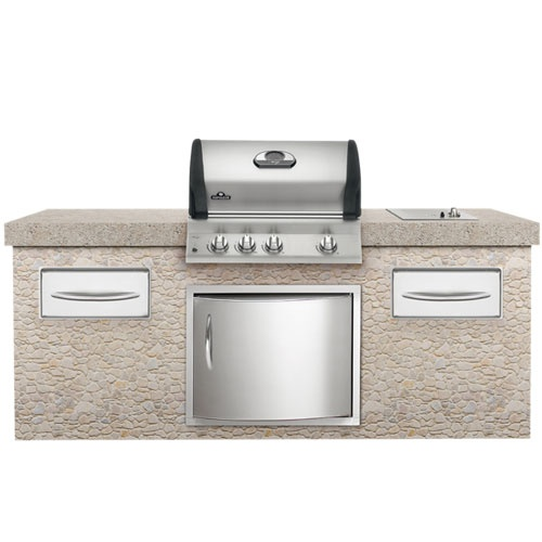 Fatheru0027s Day Gift Idea: Mirage Grill 4 Burner Build In Natural Gas With  Rotisserie Burner From Napoleon