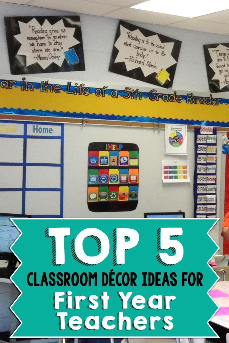 Teaching Ideas In The Classroom ~ Top classroom décor ideas for first year teachers the