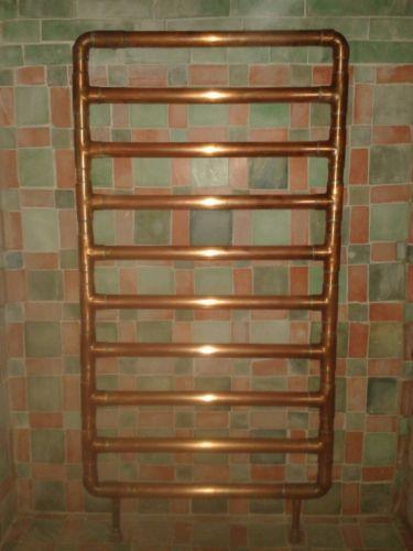 Mzinga Heated Copper Towel Rail Towel Rail Towels And