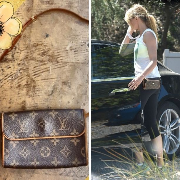 Be like Cameron Diaz wearing The  Louis Vuitton Pochette Florentine. The perfect little clutch to carry all your personal items such as cell phone, makeup and keys. This bag includes the optional adjustable snap leather belt that can be looped through to wear around the waist for ultimate hands-free convenience. As this is no longer available in stores, this is your opportunity to add this to your collection - $240 #louisvuitton #LV #designer #musthave #love #fav #dontmissout