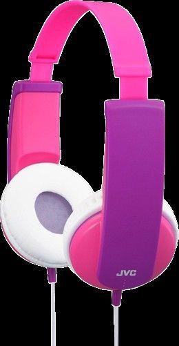 JVC HA-DK5-Y-E - Kid´s headphones. Finnes i rød, rosa, fiolett og blå. | Satelittservice tilbyr bla. HDTV, DVD, hjemmekino, parabol, data, satelittutstyr