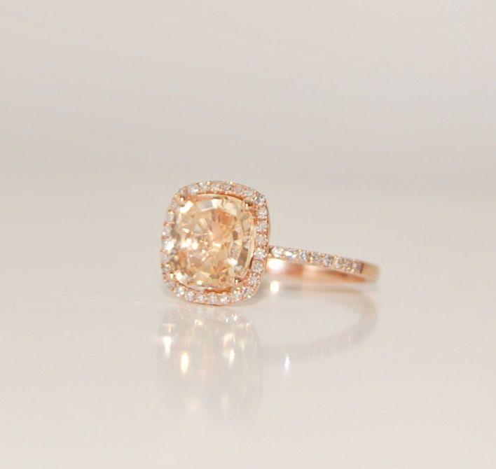 Cushion Cut Wedding Ring Saphire Site Etsy Com