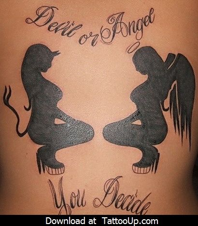 You Devil fucking angel tattoo life