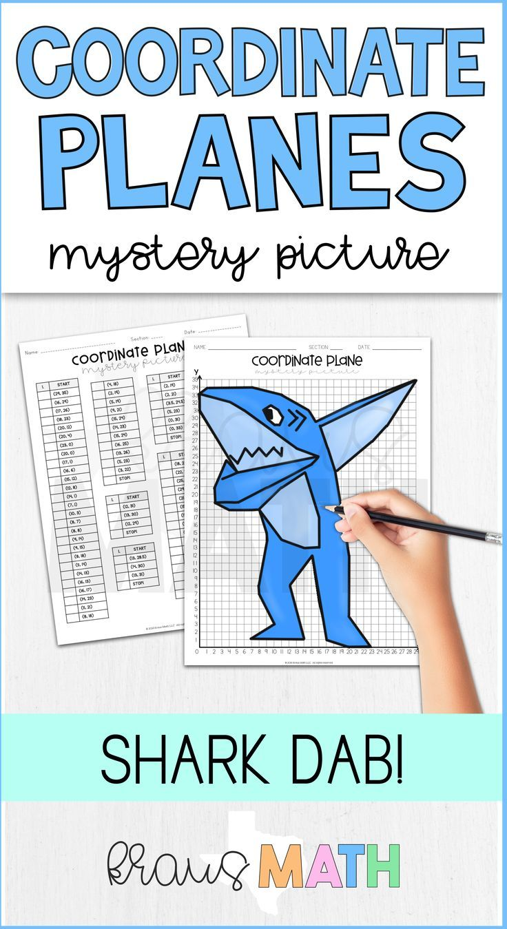 Shark DAB Coordinate Plane Mystery Picture (1st Quadrant) | Easy ...