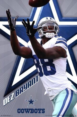 "NFL Dallas Cowboys Wide Receiver Dez Bryant Football Poster Art Print Affiliate 22"" x 34"""