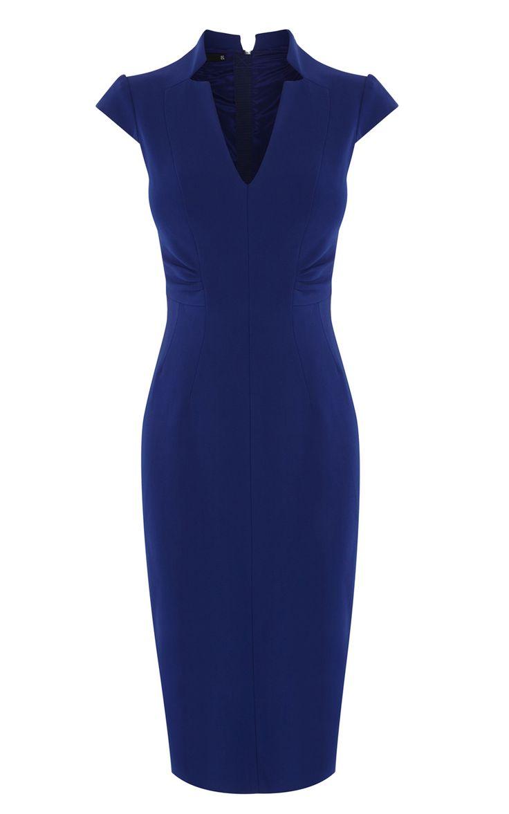 V-NECK DRESS   Luxury Women's mother-of-the-bride   Karen Millen