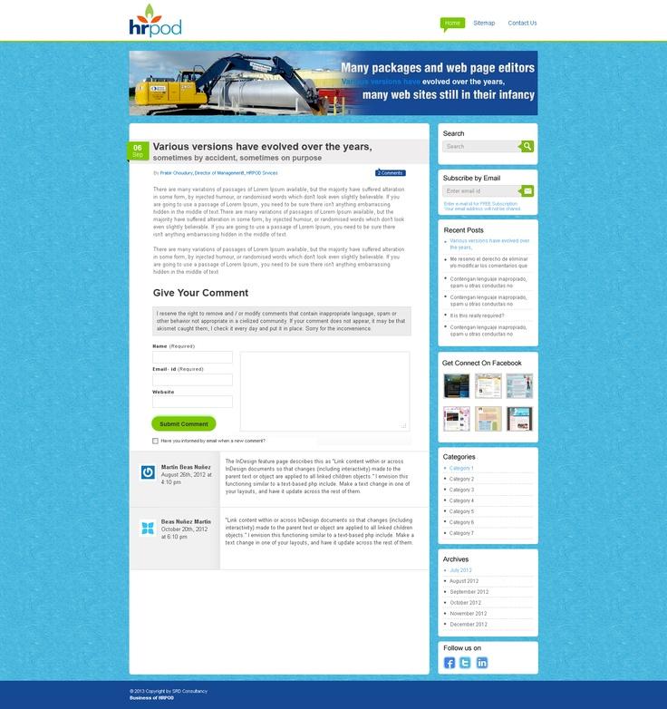 Blog Comment Page