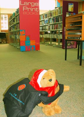 Christmas Adventures of Bing the Library Bear #7. Bing takes advantage of the increased loan limits. 20 Books!