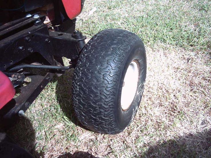 Lawn mower tires won't hold air? Fill them with foam and they'll stay firm forever.