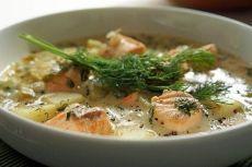 Финский суп с лососем и картофелем  / Слабый пол!