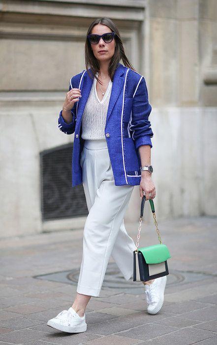 С чем носить белые брюки: 25 неожиданных модных идей для тебя
