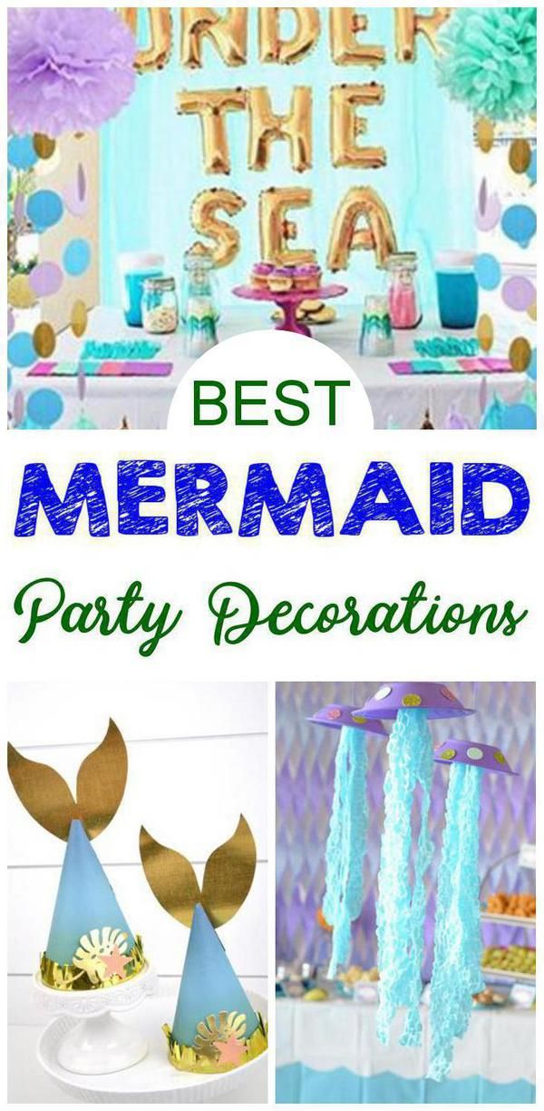 BEST Mermaid Party Decorations! EASY DIY Mermaid Party Decor Ideas – Under The Sea Theme – Backdrops – Centerpieces – Table – Dollar Store Craft Projects – Kids – Adults – Birthday – Bridal Shower – Baby Shower
