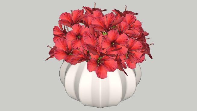Vasinho de Flores Vermelhas - 3D Warehouse